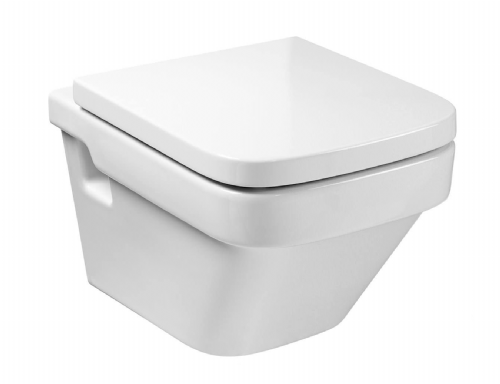 Roca Dama-N Compact Wall Hung Toilet - Soft Close Seat - White